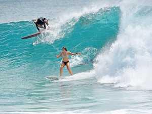 Big Swell At Laguna Bay Noosa