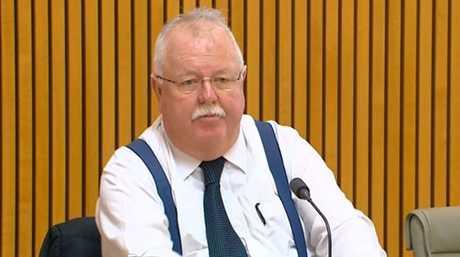 Senator Barry O'Sullivan in Senate Estimates on Monday.