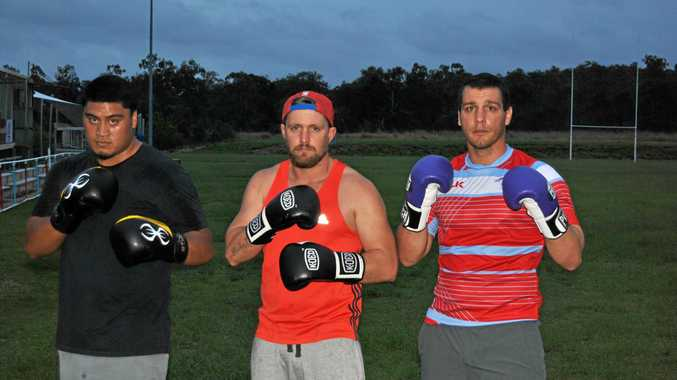 Tim Kanofski (centre) will return to the ring tomorrow night against Jessie Nikora.