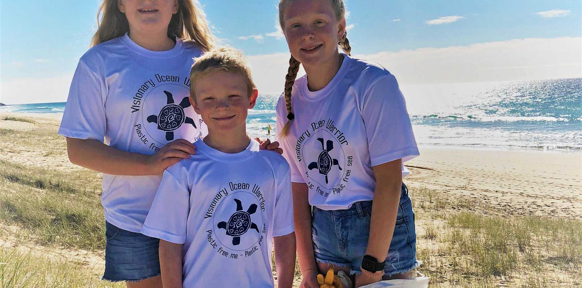 ONE PIECE AT A TIME: Millie, Poppy and Jack cleaning up our beaches.