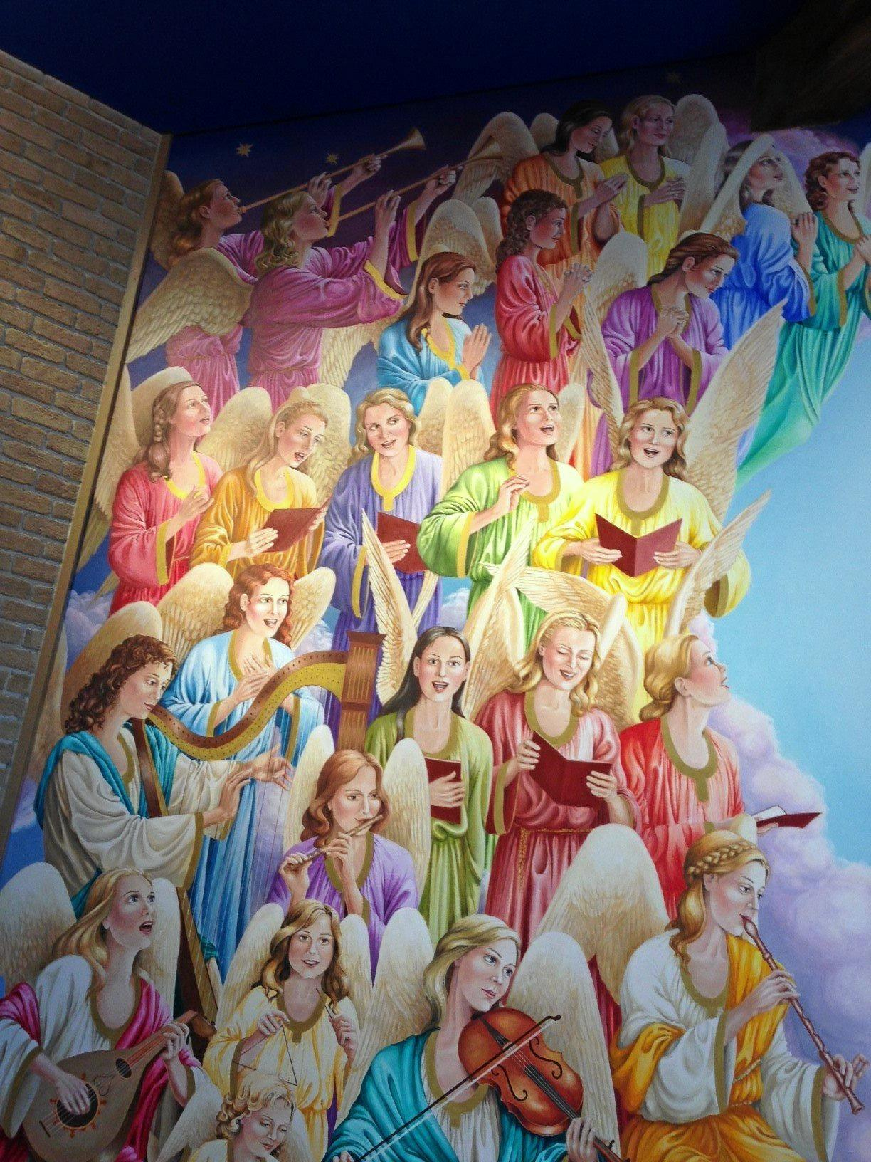 Choir of Angels mural.