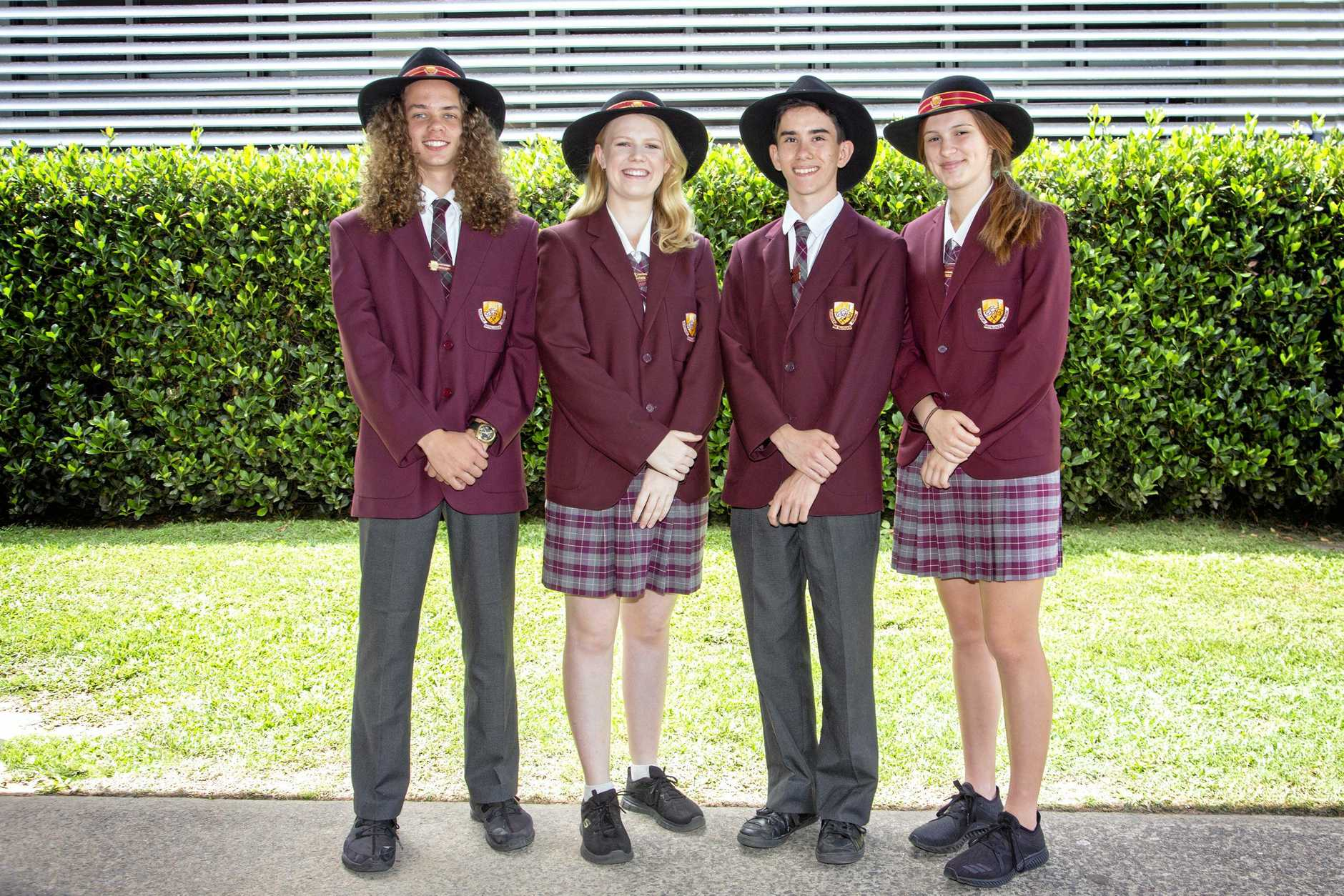 SENIOR LEADERS: Gympie State High School's senior leaders for next year are (from left) Lewiis Crump, Emily Noon, Jack Marshall and Amelia McDermott.