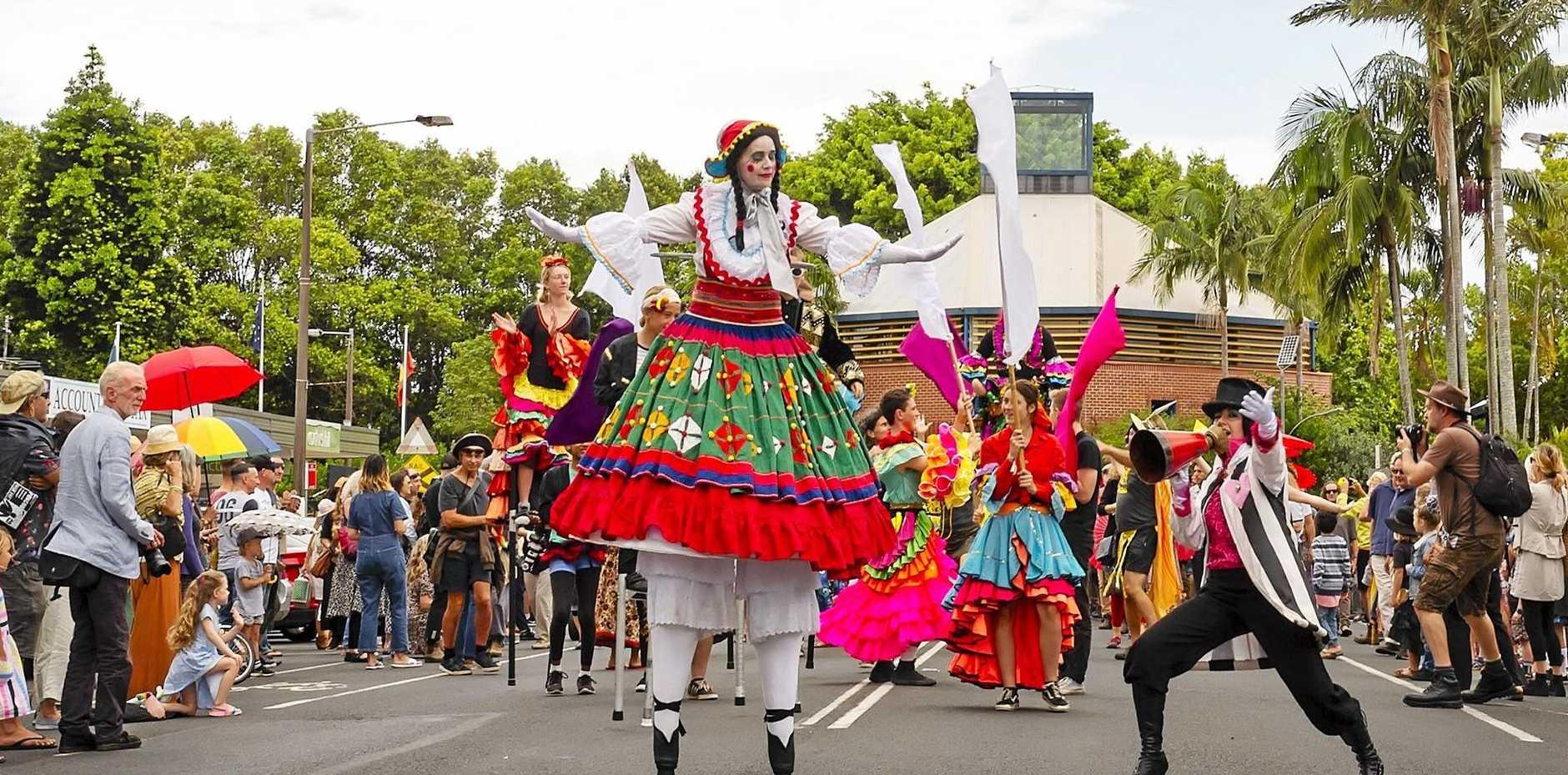 COMMUNITY FUN: The Mullum Music Festival Street Parade.