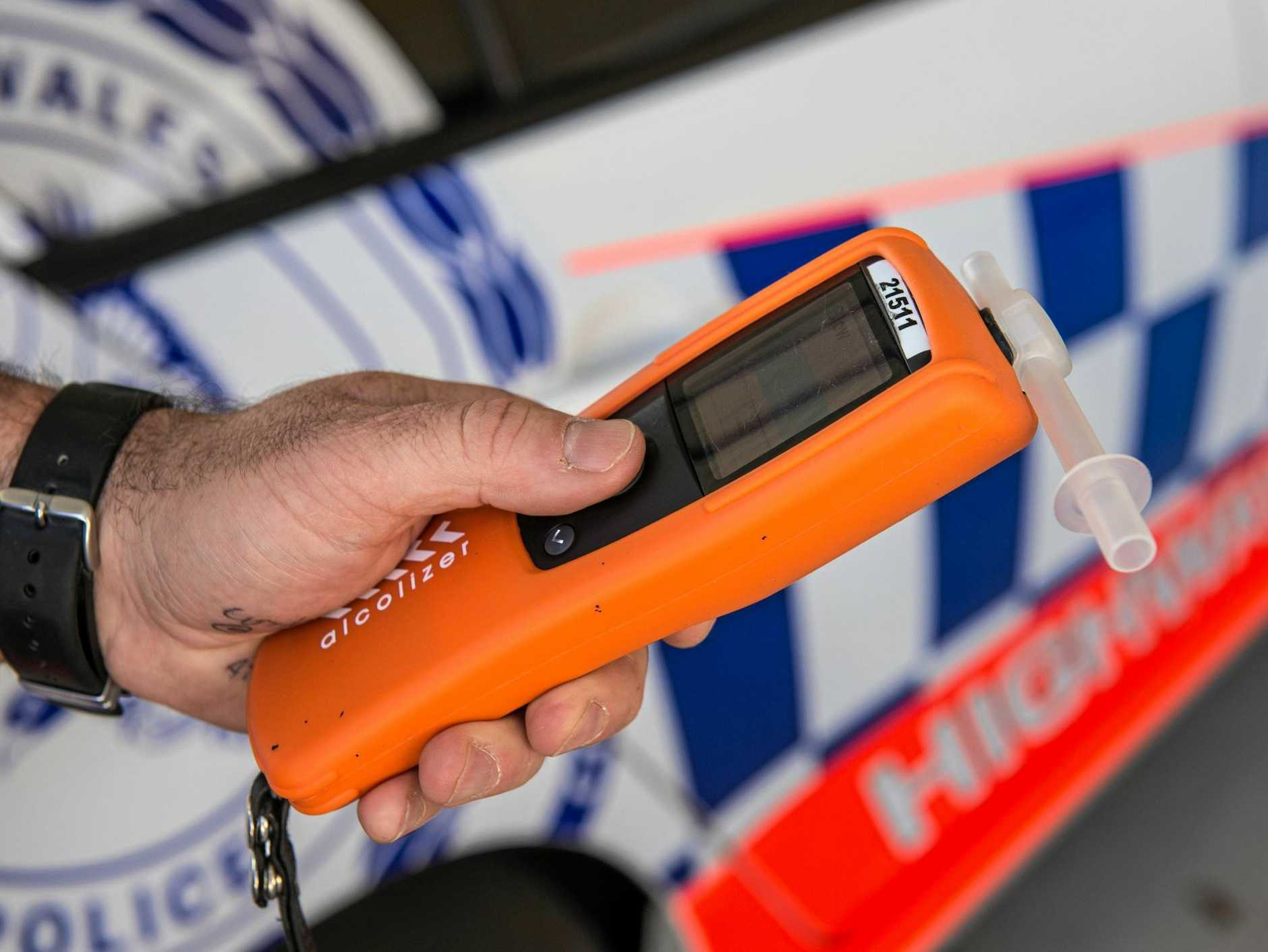 NSW police breath testing drink driver. 07 October 2016