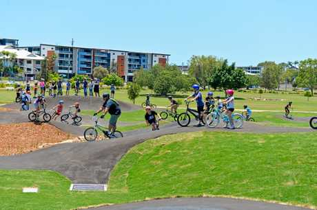 Opening of Gladstone's new pump track.