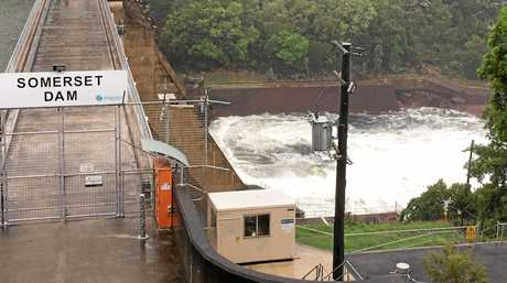 Water released at Somerset Dam.