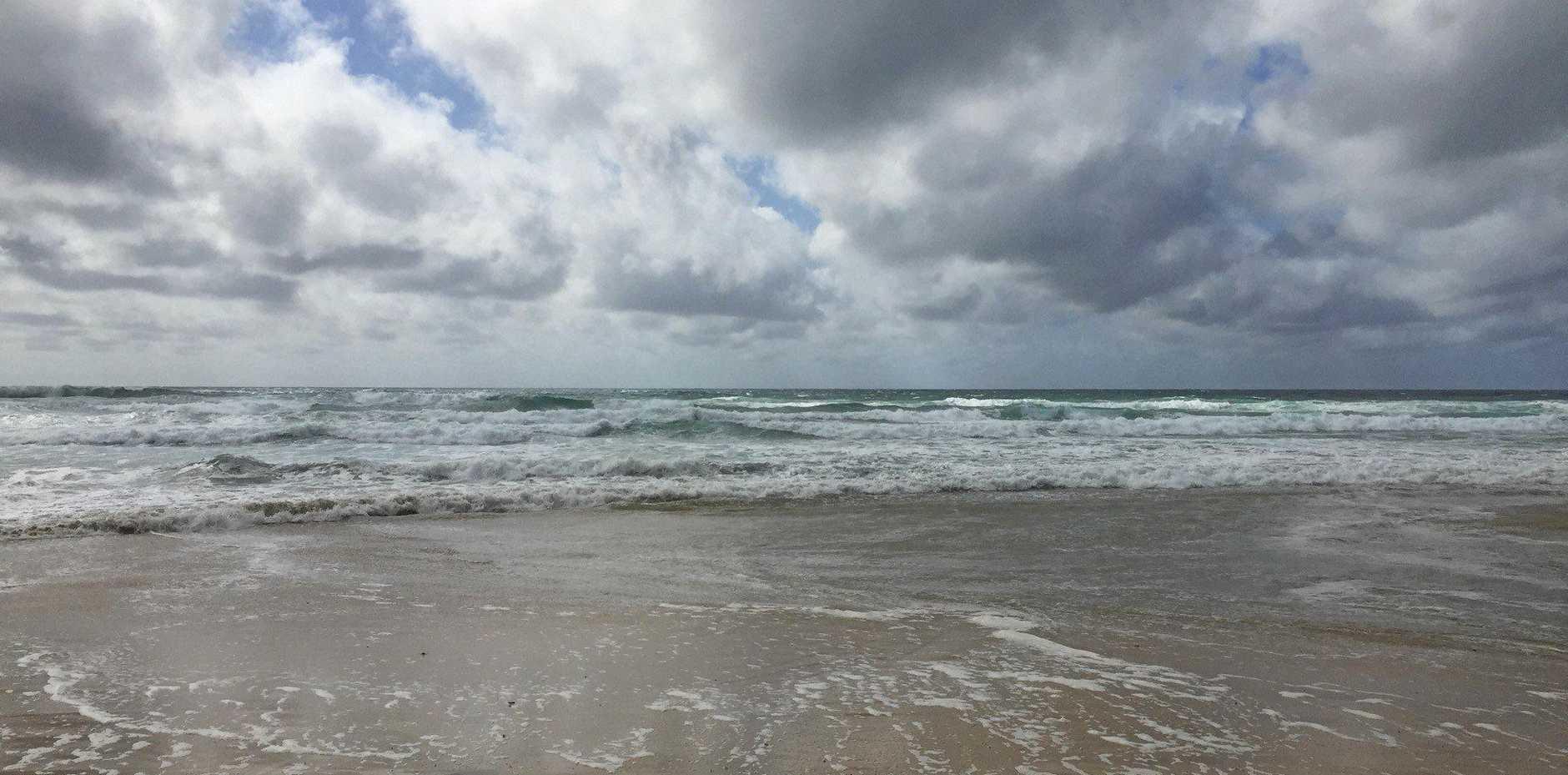 King tides at Happy Valley, Fraser Island on Thursday morning.