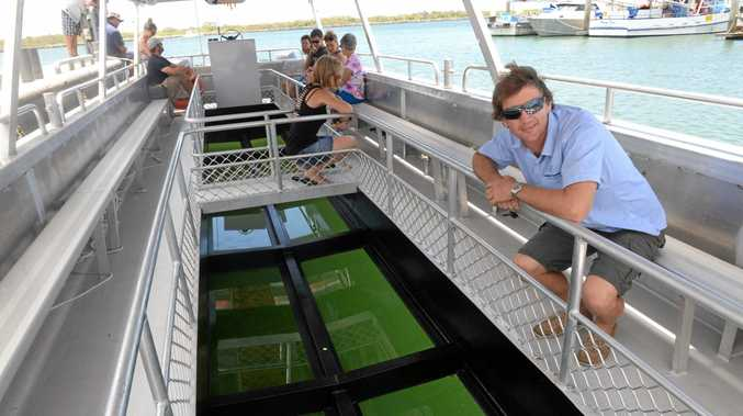 GREAT BLUE: Brett Lakey has designed a new $250,000 glass bottom boat for operations at Lady Musgave Island.