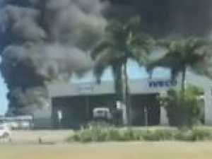 Three hurt in serious industrial fire