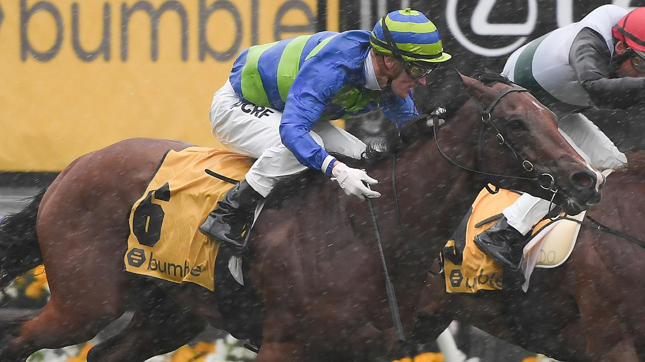 Bella Rosa was beaten by stablemate Loving Gaby last start but could be an improver. Picture: AAP