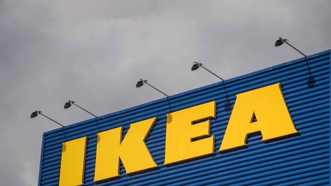 The logo of IKEA