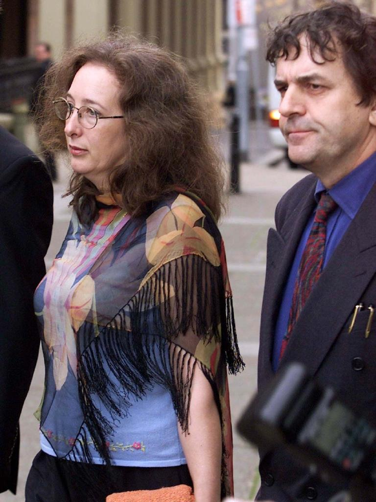 Tess Knight and Peter O'Meagher parents of missing girl Samantha Knight leave the Supreme Court in 2002. Picture: Chris Hyde