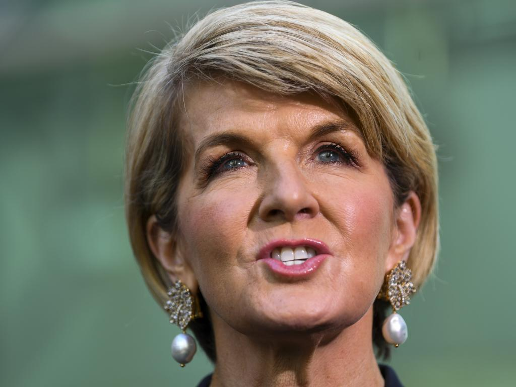 Julie Bishop is not giving anything away as to her plans after politics. Speaking at an International Women's Day.