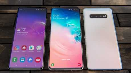 The Samsung Galaxy S10 smartphones will go on sale in March. Picture: Jennifer Dudley-Nicholson/ News Corp Australia