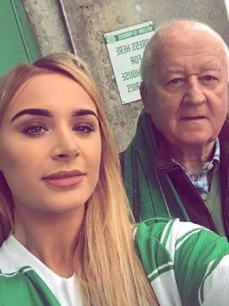 """Amie McHugh with her grandad William who sent her a list of """"boyfriend rules""""."""