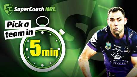 It's possible to pick a gun SuperCoach side in just five minutes.