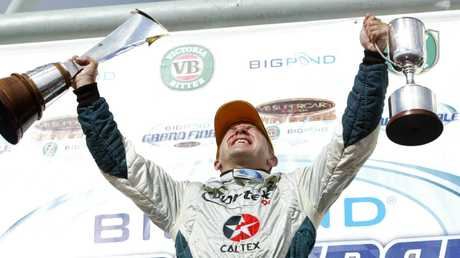 Ingall after winning the 2005 Supercars championship.