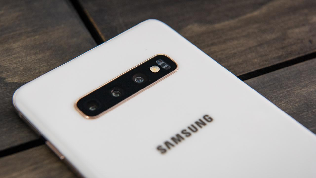The Samsung Galaxy S10 and S10+ phones have three rear cameras. Picture: Jennifer Dudley-Nicholson/ News Corp Australia