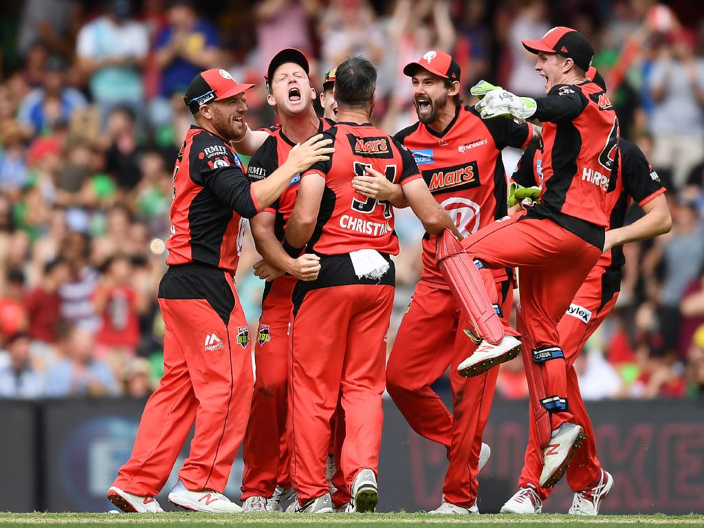 The Renegades celebrate after winning the Big Bash League final. Picture: Quinn Rooney/Getty Images
