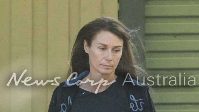 Yvettee Nikolic outside a house at Port Melbourne.