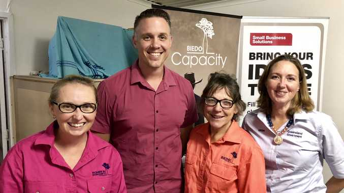 NETWORK: Business owners will be able to connect with representatives like Stephanie Denman (DAF), Andrew Bryant (WBBROC), Karen Seiler (BIEDO) and Cynthia Godden (QRIDA) at the Burnett Inland Small Business Roadshow.