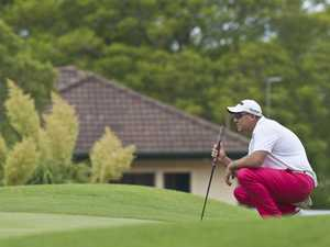 Anthony Timms playing in the Queensland PGA