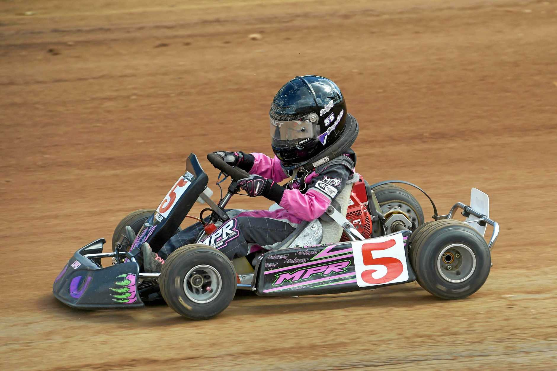COME ON IN: Free entry into  the Speedway Karts at the Maryborough Speedway this weekend.