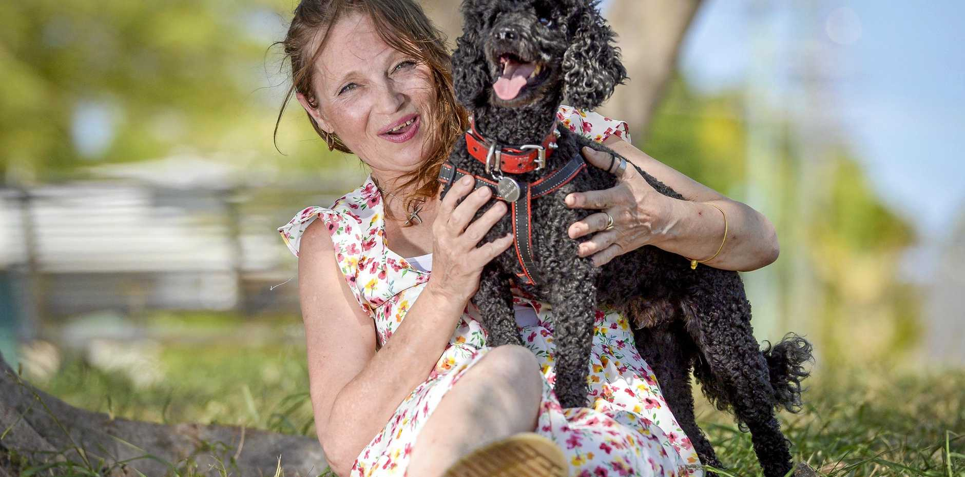 POODLE CLUB: Cat Lee, who has recently moved to Gladstone with her poodle Billy Bob, and is hoping to start a group for the animal lovers.