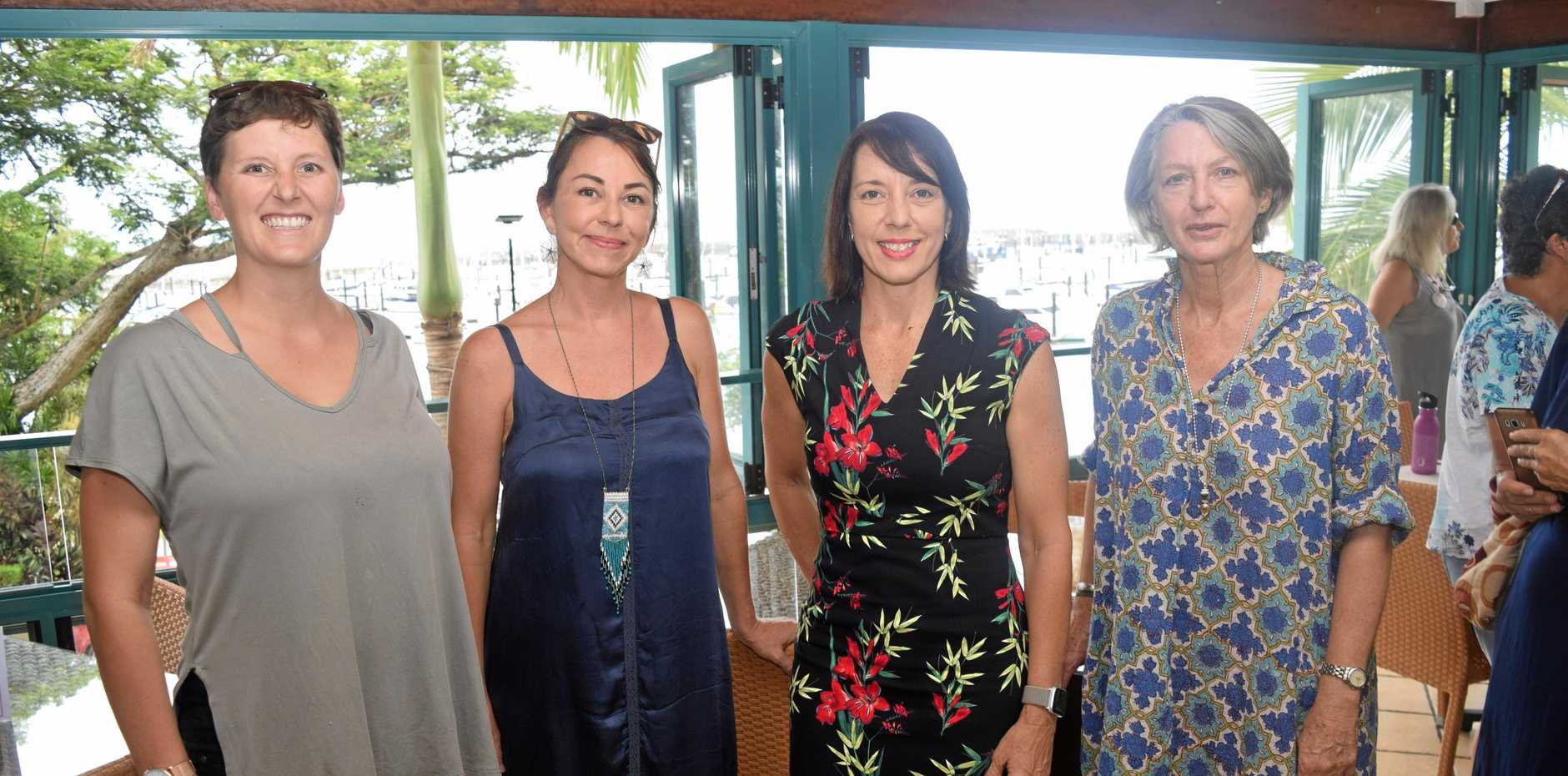 CONSERVATION: Whitsundays Community Garden's Rosie O'Brien, Whitsundays Action Climate Collective's Jessa Lloyd, Labor candidate for Dawson Belinda Hassan and Kerry McCourt.