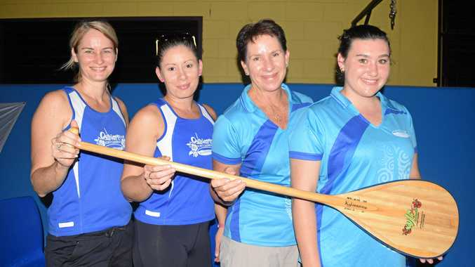 SEE YOU AT THE EXPO: Kylieanne Mitchell, Gina Bellinger, Michelle Lynes and Brooke Draper from Outrigger Whitsunday at one of the previous editions of the Whitsunday Sports Expo. The annual event is being held at Cannonvale State School hall this Saturday with about 25-30 exhibitors on the day.