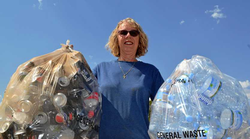 GOING GREEN: Karan Hibbs cannot wait to collect her recyclable refund.