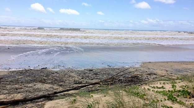 Rainbow Beach on Thursday as Oma approaches Qld coast