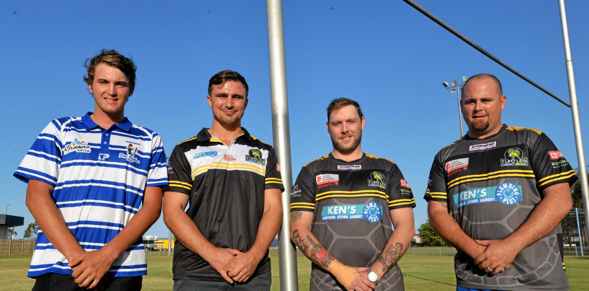 READY FOR ACTION: Jamie Morey, Alexander McClymont, Cory Hibble and Josh Lucas will aim for their first title in Turtles Brothers colours.