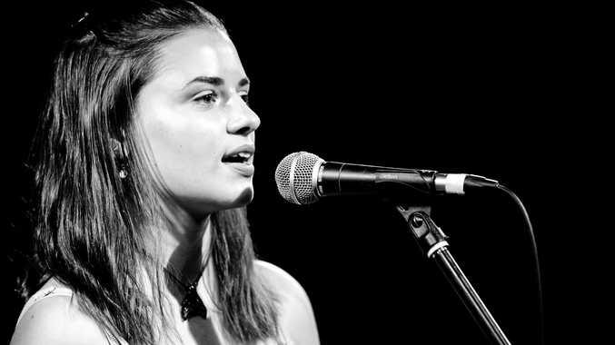 MUSICIAN: Finalist Jordan Irish performing at the Finalist Showcase 2018.