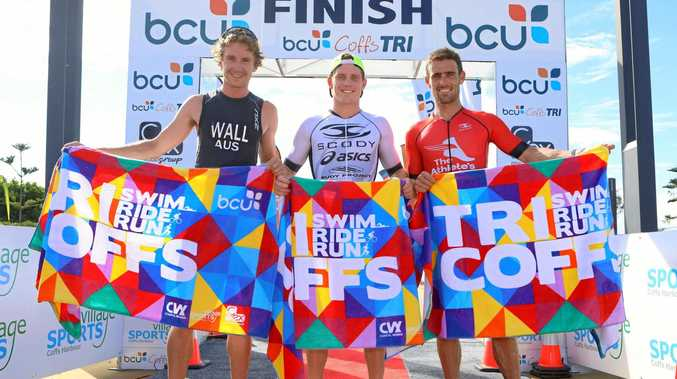 TOP CHANCE: Lindsey Wall (left) will be in the running for a podium finish once again at the 2019 bcu Coffs Tri.