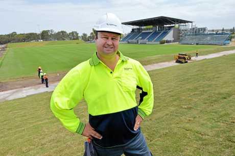 Sunshine Coast Stadium venue manager Simon Ball.