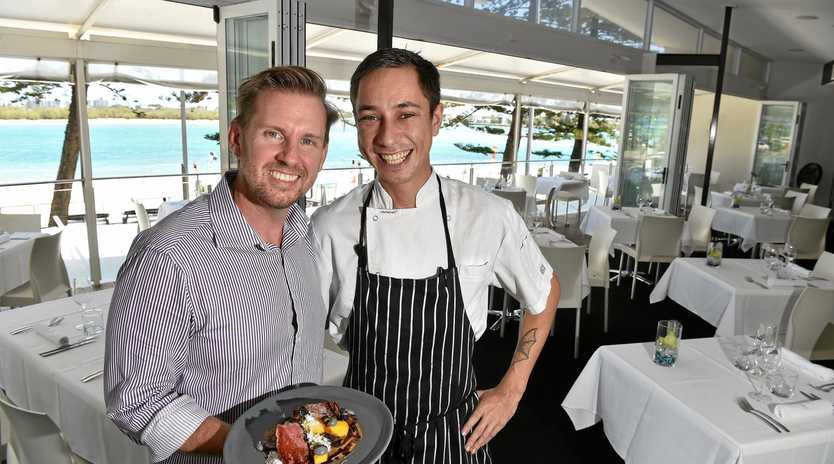 Tides Waterfront Dining owner Michael Mulhearn and chef Damien Gage.
