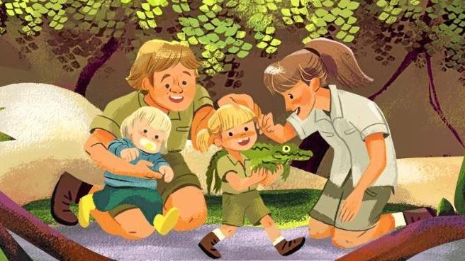 Steve Irwin has been honoured with a Google Doodle for his 57th birthday.
