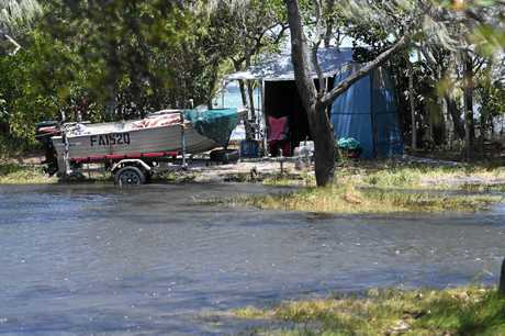 Inskip  camping ground under water