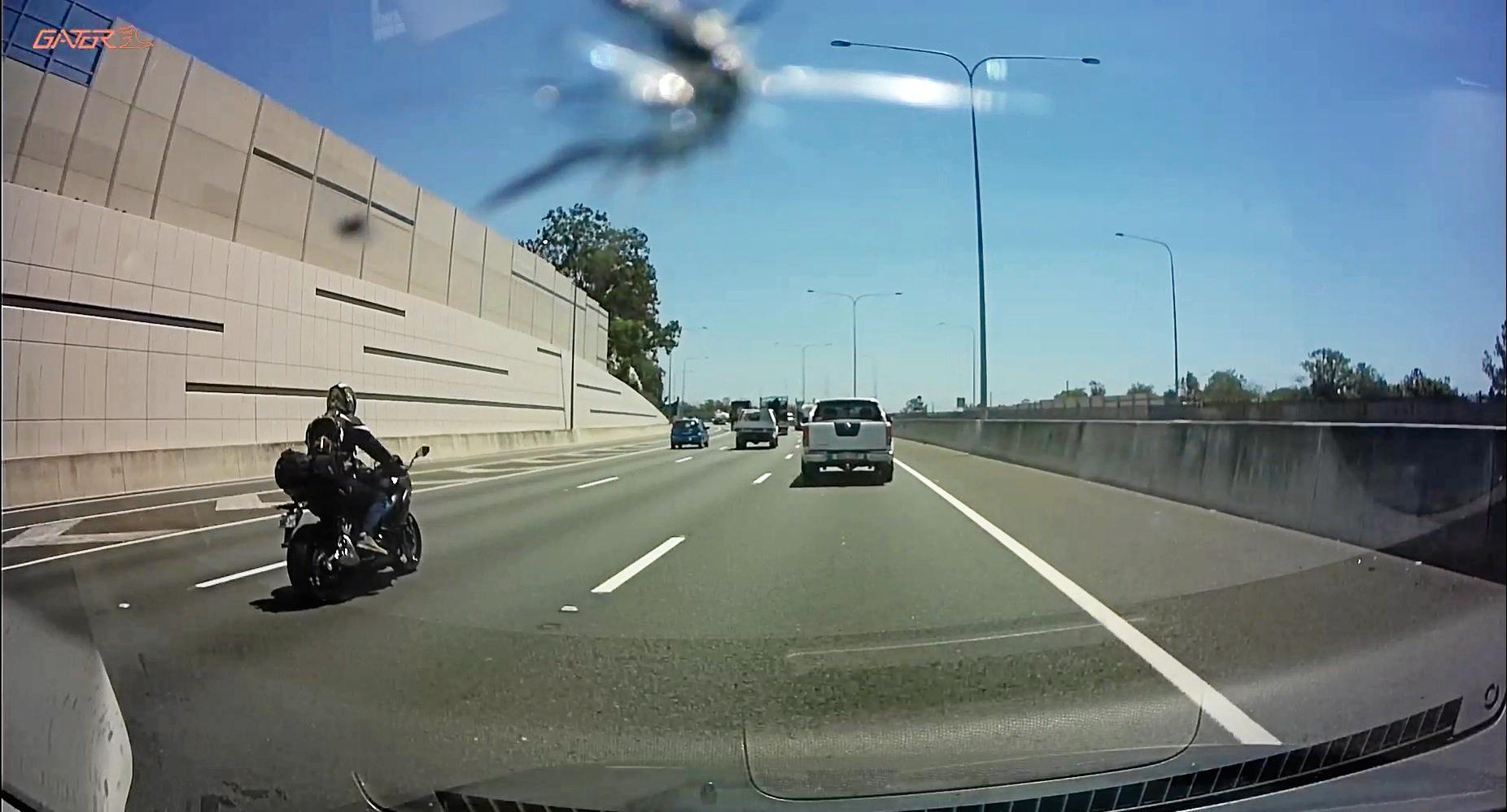 Dashcam footage provided by Karen Sharrad