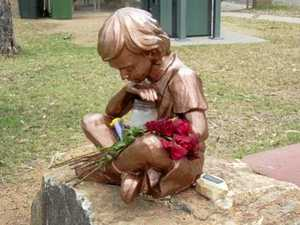 Police plead for return of little boy's memorial statue