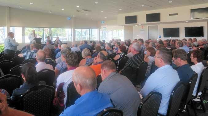 PACKED CROWD: The Canegrowers meeting held on Feb 22 was well attended by growers.