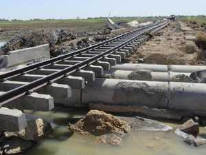 Flood-damaged rail line costing millions per week
