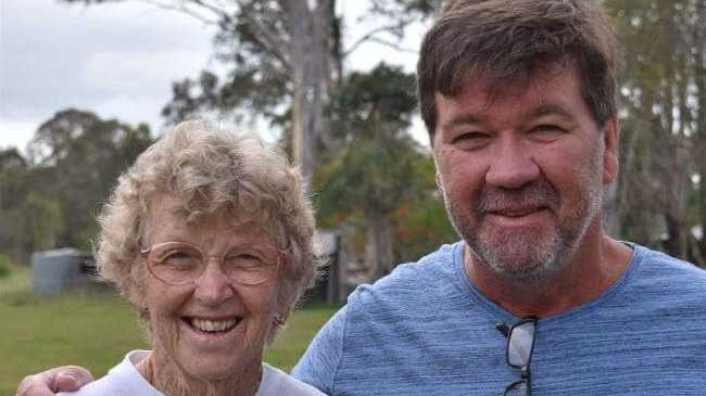 Shane Old, who is one of the victims of Paraha's alleged careless driving, pictured with his mother Maureen Tyson.