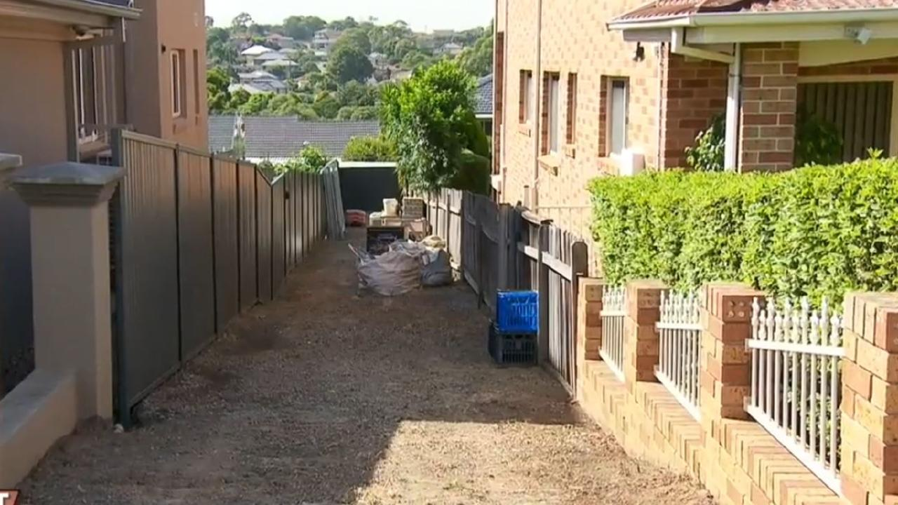 The laneway that's caused so many problems. Picture: A Current Affair