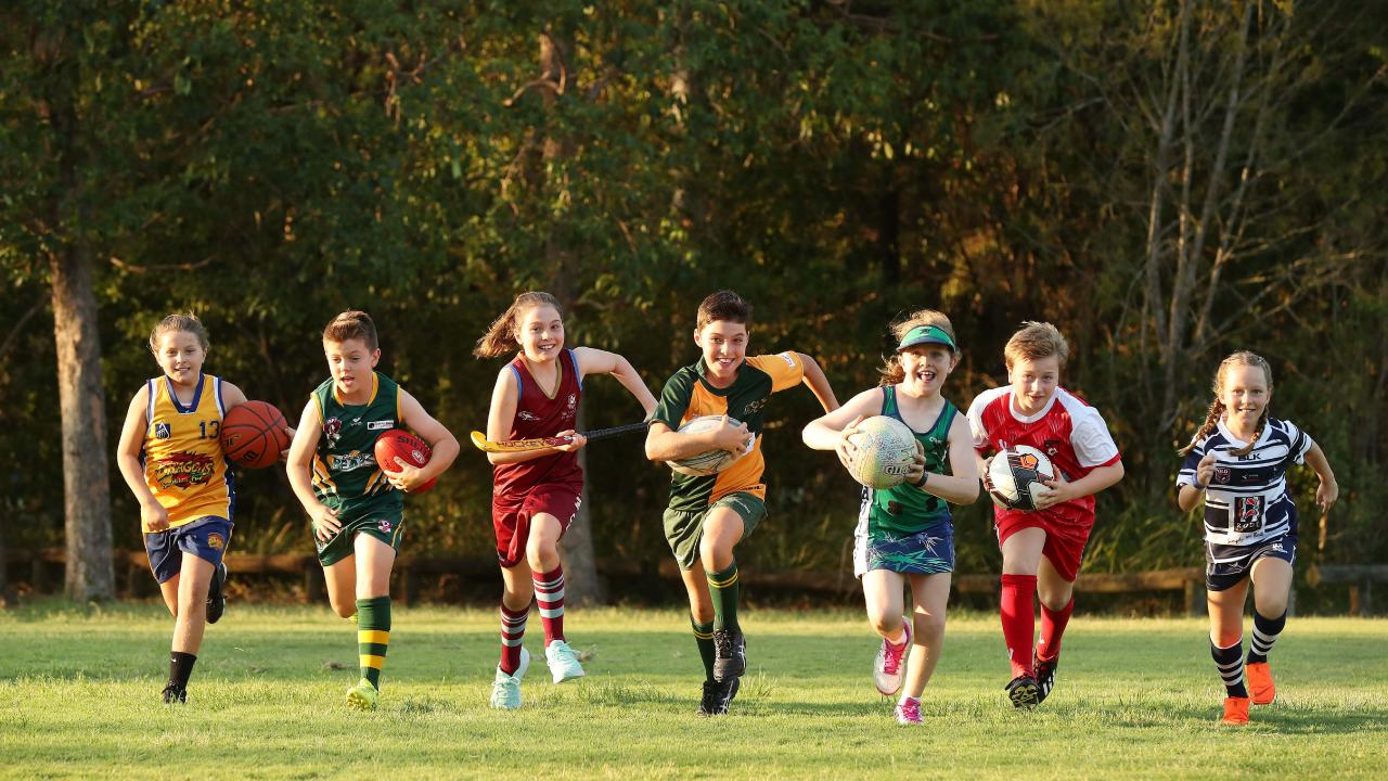 Summer Meis, Xander Brickhill, Georgia Clifton, Hamish Clifton, Darcy Riley, Xander Keane and Olivia Bull. Picture: Liam Kidston