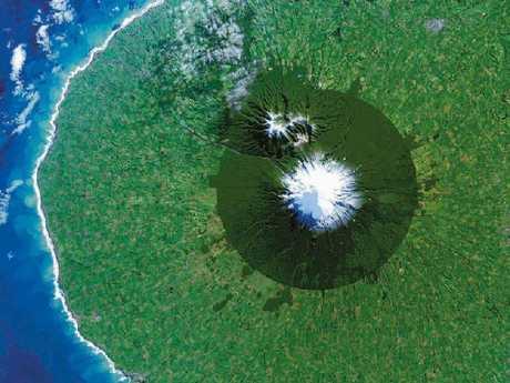 Mount Taranaki is an active but quiescent stratovolcano in the Taranaki region on the west coast of New Zealand's North Island.