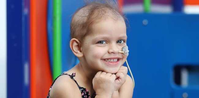 3-year-old Summer Smith has a rare childhood cancer. Picture: Tara Croser.