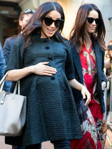 Meghan, Duchess of Sussex (L) and Abigail Spencer are seen in New York. Picture: Supplied