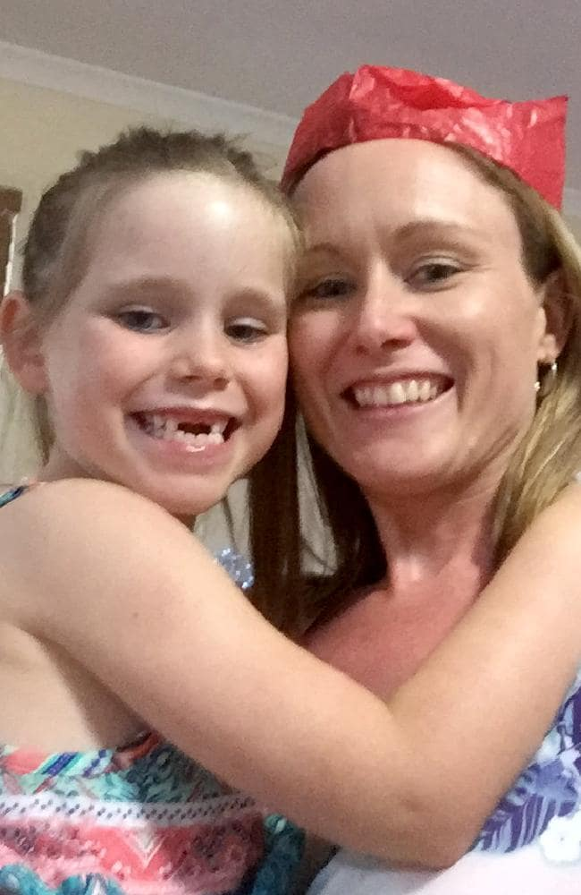 Olivia Douglas with her mother Tegan Mitchell. Picture: Supplied